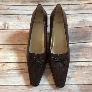 Anne Klein Square Toe Peep Heels